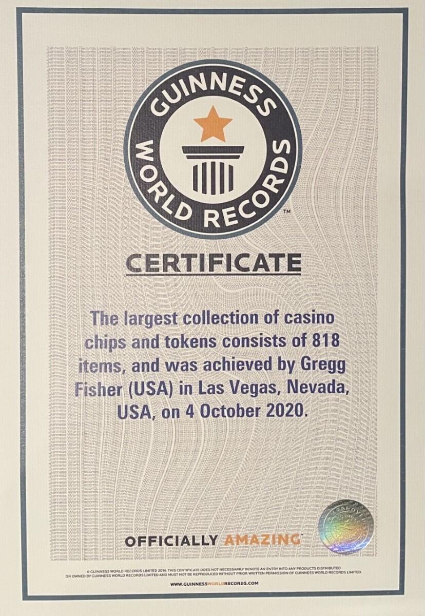 Gregg Fisher - $1 Casino Chip Guinness World Record Holder