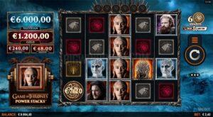 Game of Thrones Powerstacks Slots by Slingshot/Microgaming
