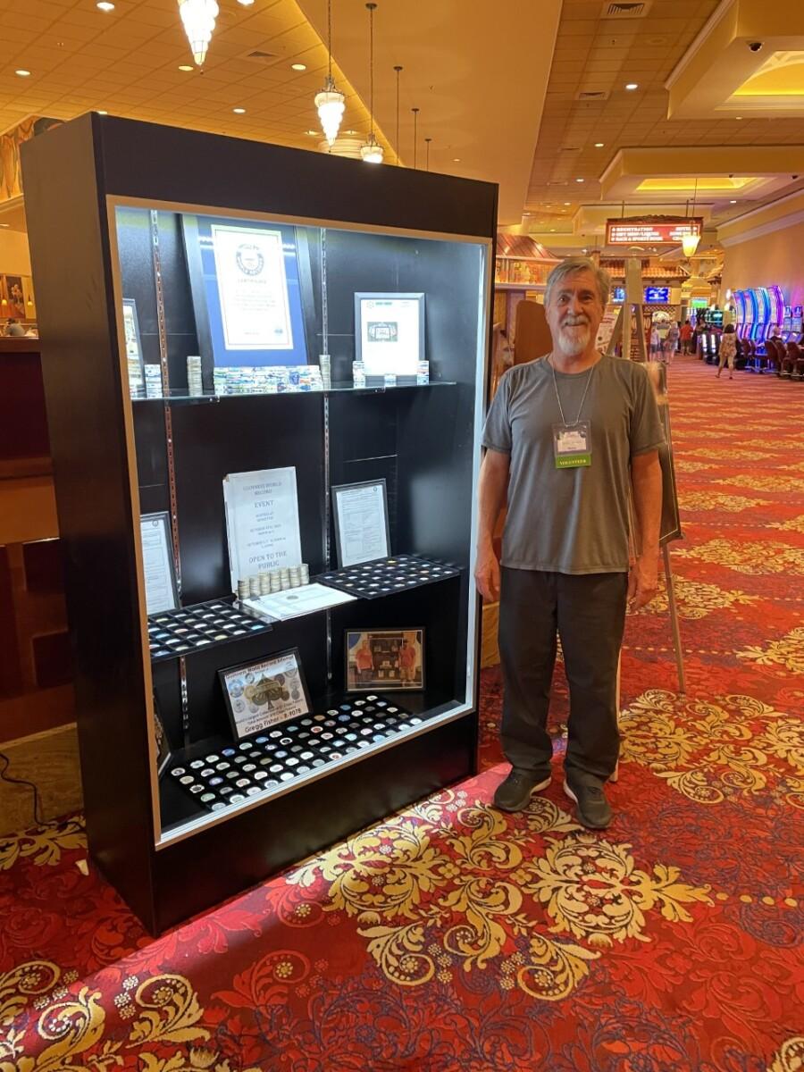 Gregg Fisher - Casino Chip World Record Display