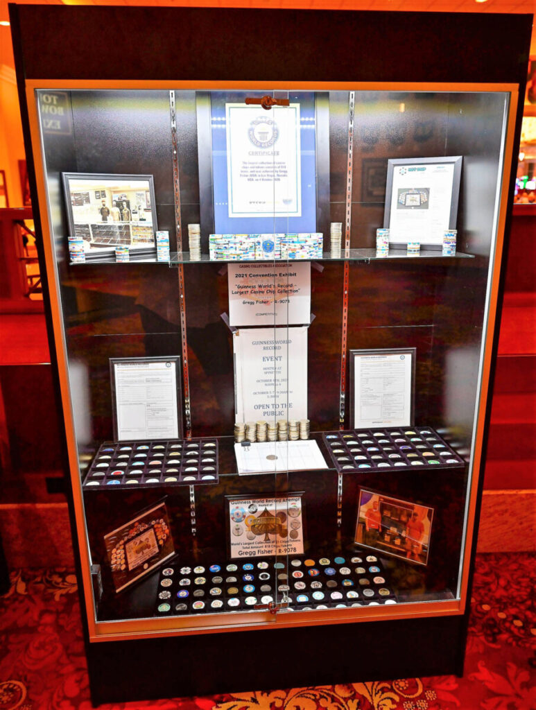 Attempt at World's Record Casino Chips Collection on Display